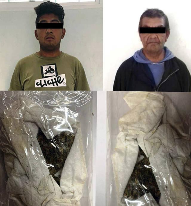 Asegura la CES a dos personas con enervantes en Zacatelco