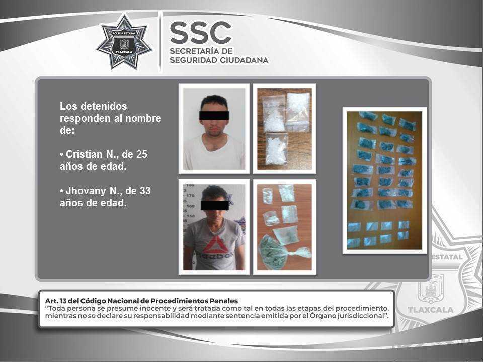 La SSC asegura en acciones diferentes sustancias ilegales y detiene a dos sujetos