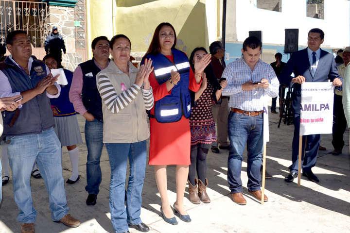 Lilia Olvera inaugura Programa de Imagen Urbana en Nanacamilpa