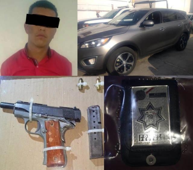 Aseguran a una persona con arma de fuego y recupera camioneta en Yauhquemehcan