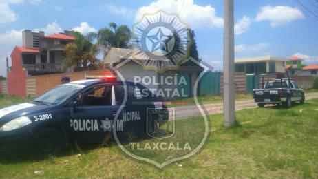 En la frontera Sur de Tlaxcala, realizan aseguramiento de personas y vehículos