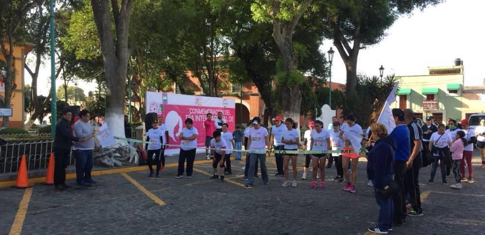 Concluye con éxito 1ra Carrera de la Mujer intermunicipal Apetatitlán y Chiautempan