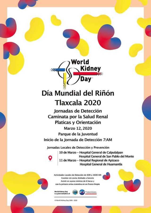 Ayuntamiento invita a las Jornadas de Detección por el Día Mundial del Riñón 2020
