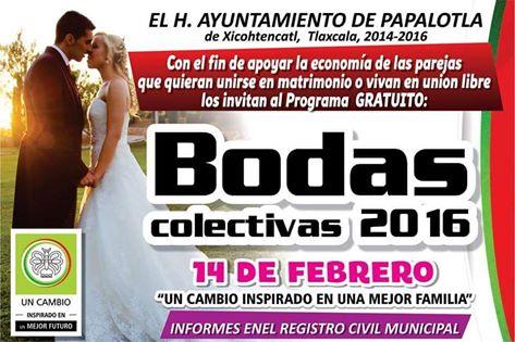Ofrecen programa de bodas gratuitas en Papalotla