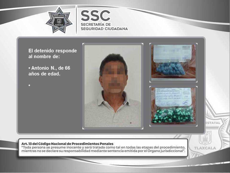Detienen en Tenancingo a una persona por probables delitos contra la salud