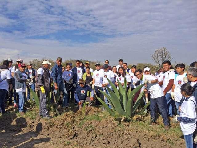 Participan alumnos de la UAT en Jornada Nacional de Reforestación