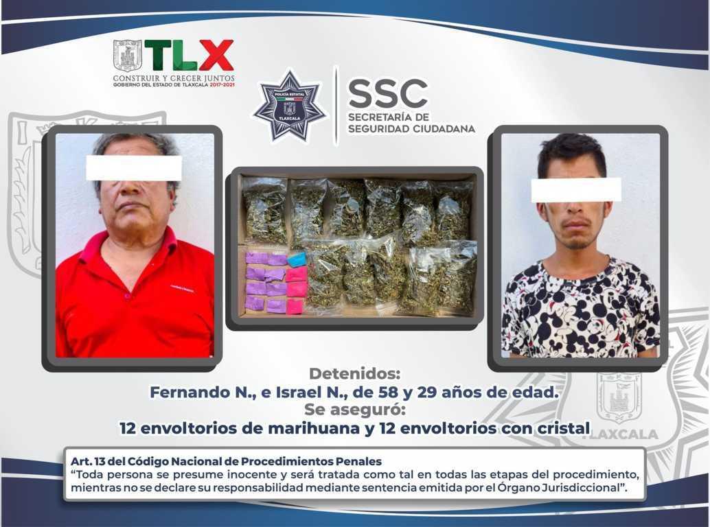 La SSC detiene en Contla a dos personas con droga