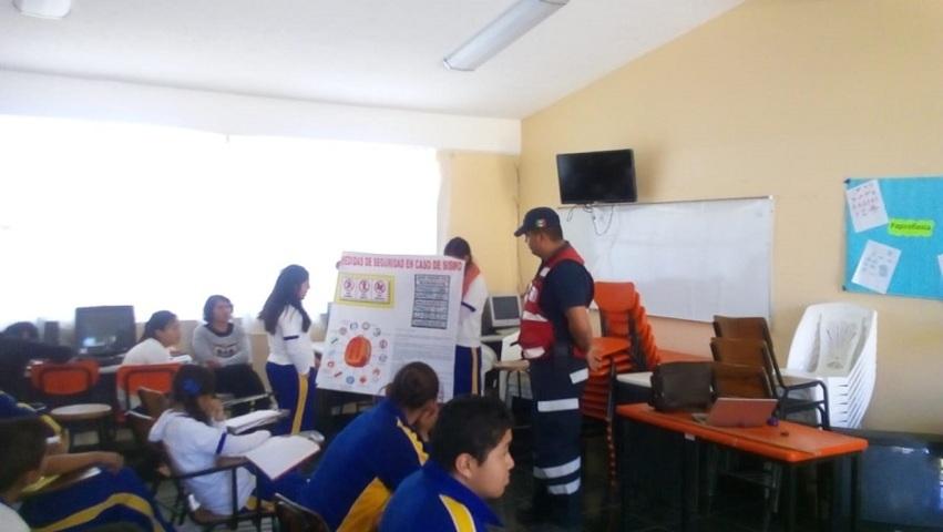 Fomenta PC municipal la cultura de prevención de sismos con pláticas