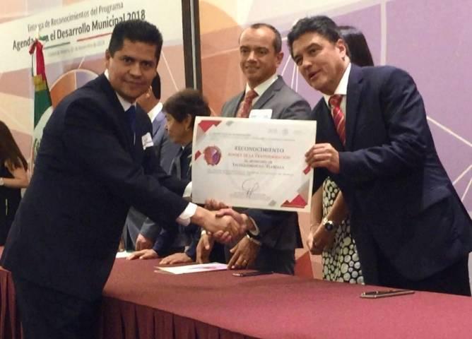 Ayuntamiento cumple con la agenda para el desarrollo municipal reconoce INAFED