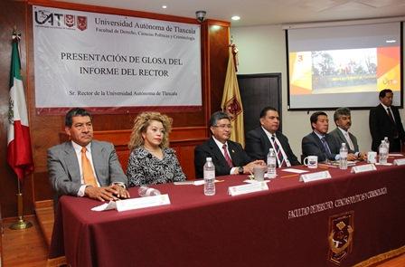 Realizan facultades la glosa del informe del Rector de la UAT