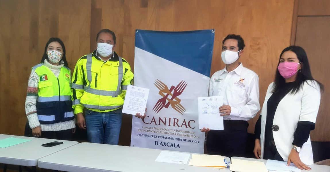 Firman CEPC y CANIRAC convenio de colaboración en beneficio de agremiados