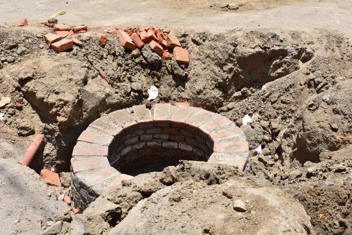 Obra de drenaje detenida por cambio de red hidráulica en la Lerdo de Tejeda