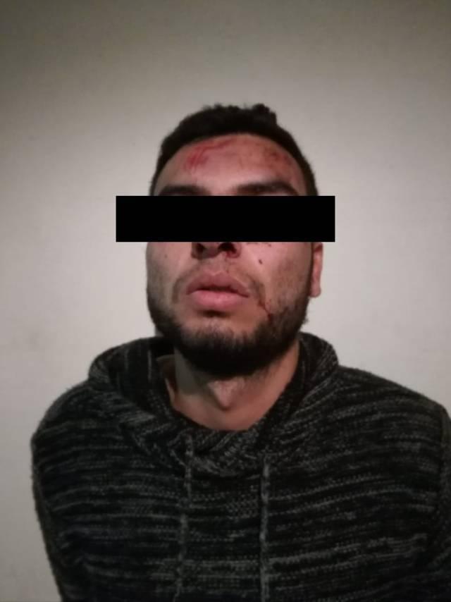 En persecución detienen a 3 presuntos roba partes de vehículos