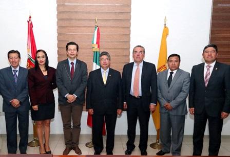 Recibe Rector de la UAT a directivos de Universidad de Colombia