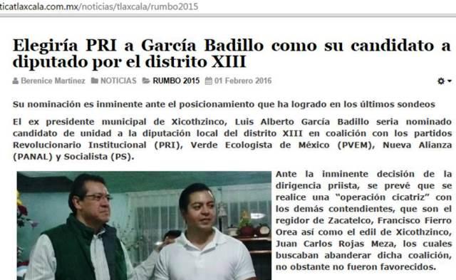 Virtual candidato del PRI a la alcaldía de Zacatelco quiere candidato amoroso