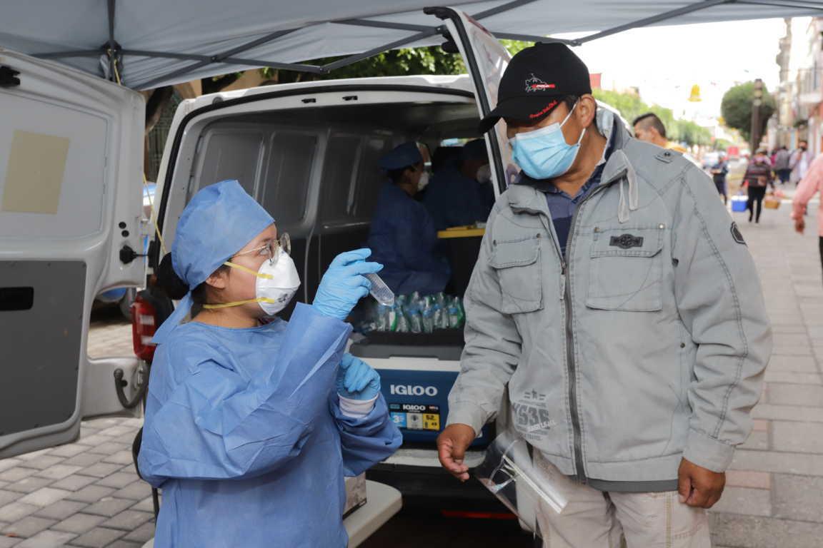 Contribuye Gobierno de Tlaxcala al ahorro familiar con tres mil 575 pruebas de Covid-19