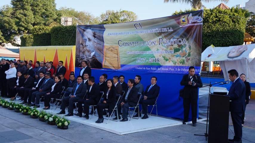 Ayto. de SPM conmemora CI Aniversario de la Promulgación de la Constitución Mexicana
