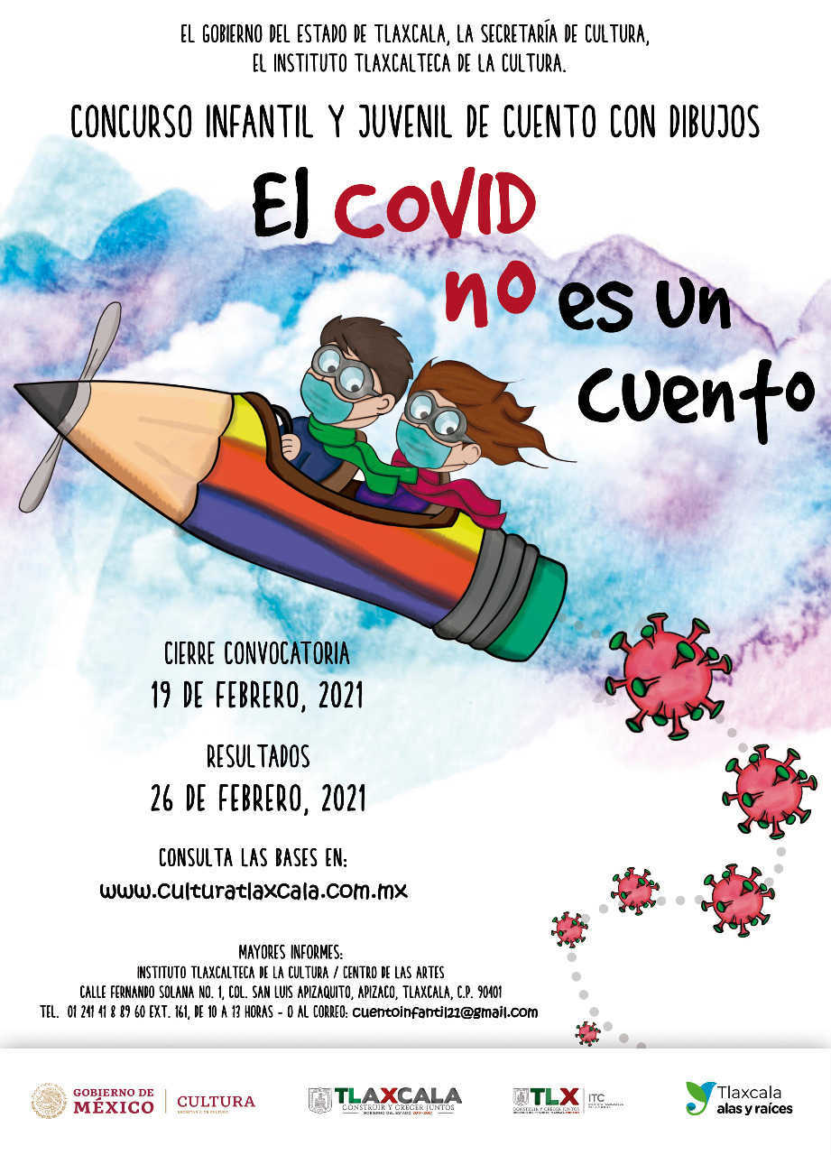 Convoca ITC a concurso infantil y juvenil EL COVID NO ES UN CUENTO