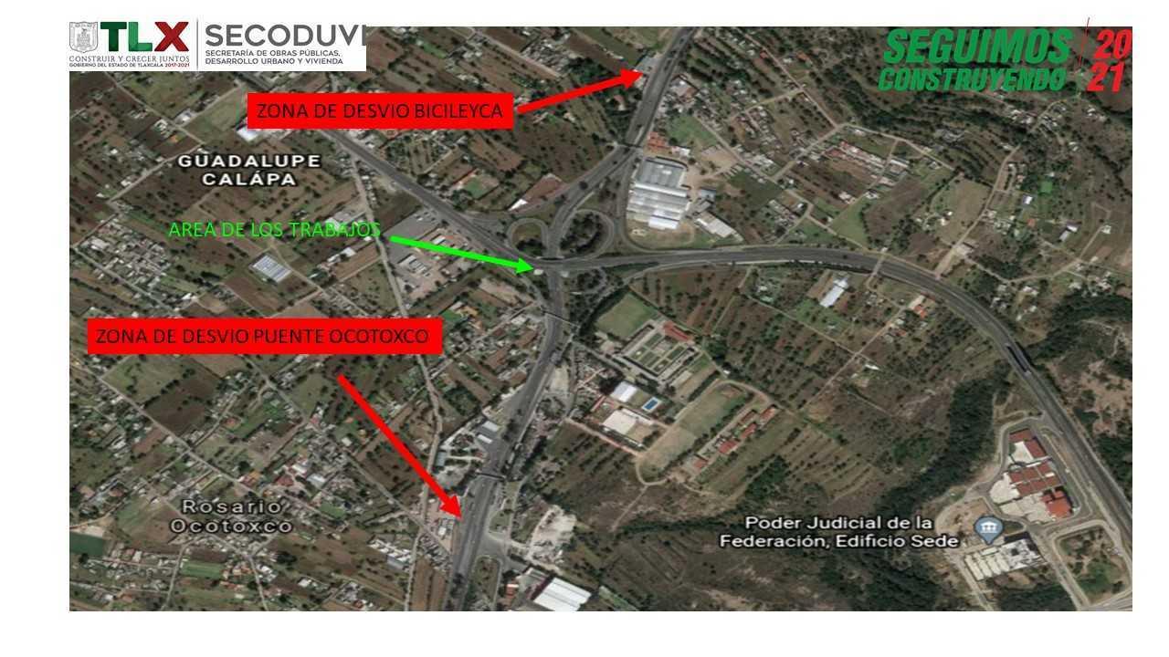 Anuncia Secoduvi cierres en carretera tlaxcala-apizaco por colocación de trabes del distribuidor carretero Xicohténcatl