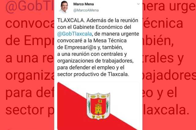 Marco Mena convoca a empresarios y organizaciones para defender empleo formal