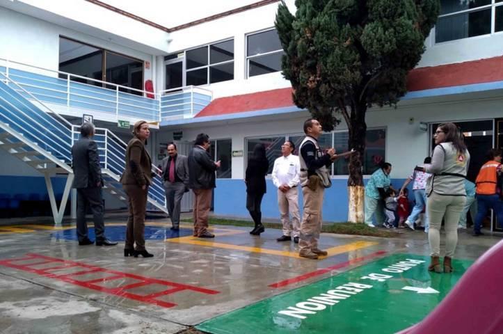 Realiza CEPC macro simulacro en estancias infantiles del IMSS