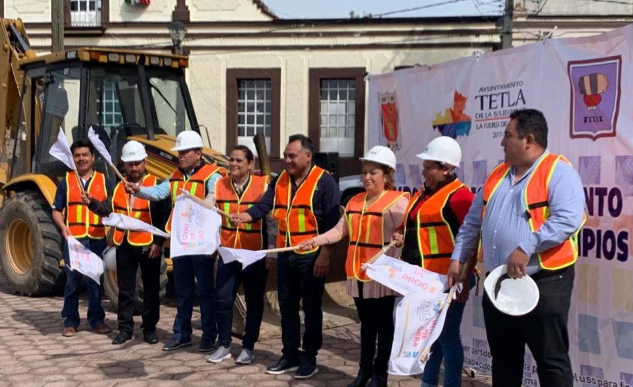 Inician en Tetla obra con recursos etiquetados por la Diputada Michaelle Brito