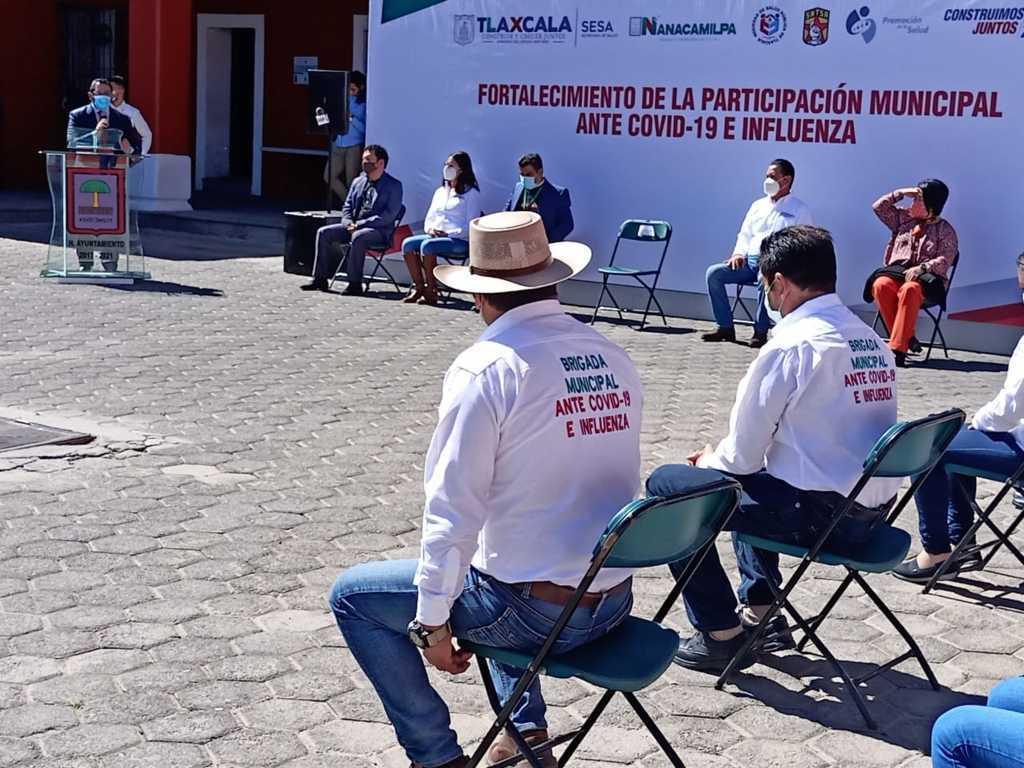 Arrancan brigadas municipales Covid-19 e Influenza en Nanacamilpa
