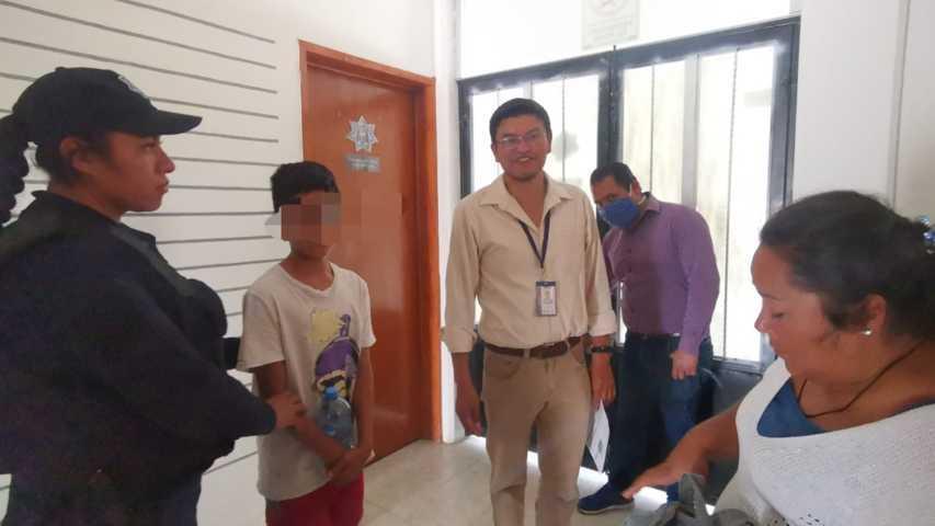 Encuentran en Tetla a un menor que se escapó de casa por un posible regaño