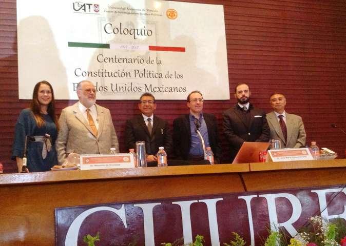 Reflexionaron en el CIJUREP de la UAT acerca del centenario de la Constitución mexicana