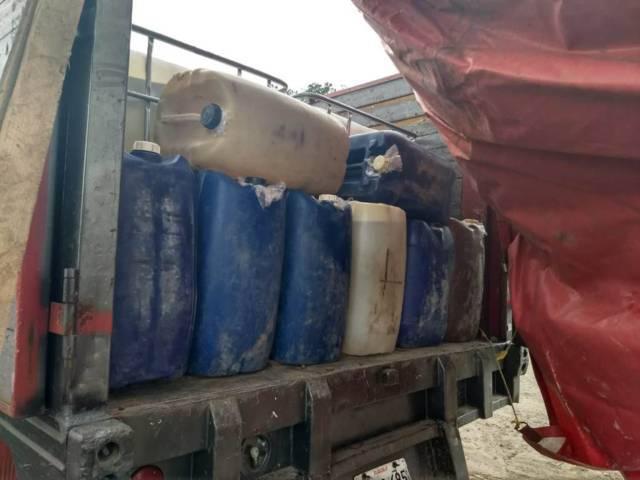 La CES aseguró una persona, dos vehículos y contenedores de hidrocarburo