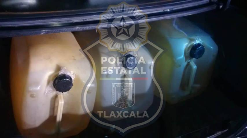 La CES asegura en Nanacamilpa una persona con posesión de hidrocarburo