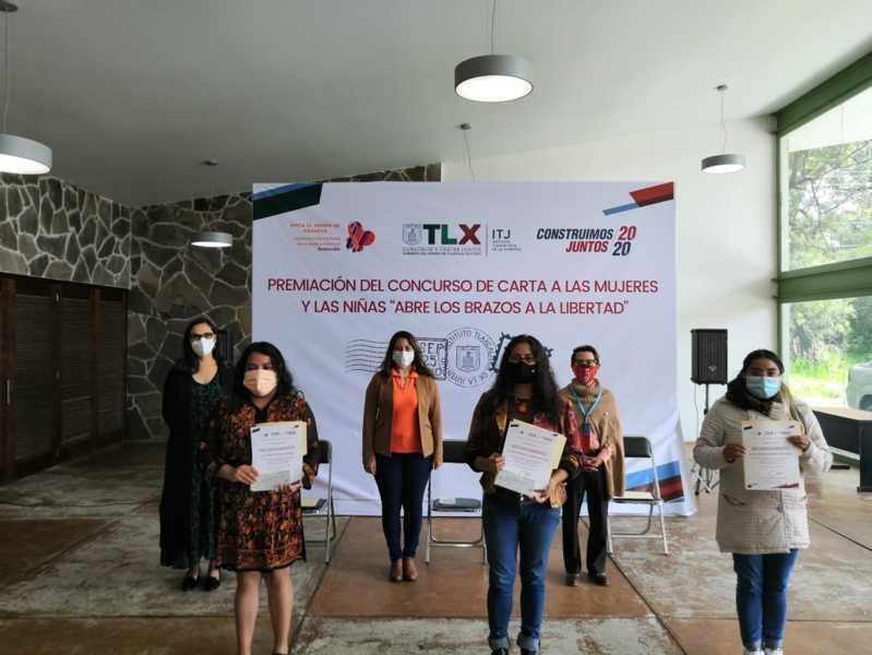 Premia ITJ a ganadores del concurso carta a las mujeres y las niñas Abre Tus Brazos A La Libertad
