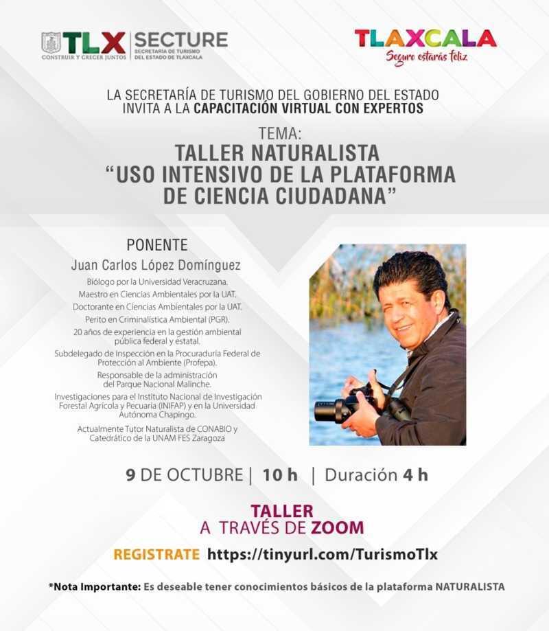 Invita Secture al taller naturalista: Uso Intensivo De La Plataforma De Ciencia Ciudadana
