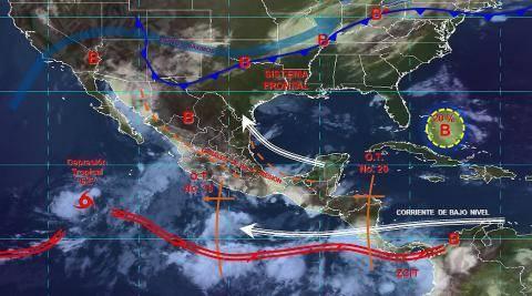 Pronóstico del tiempo en México para lunes 22 de julio del 2019