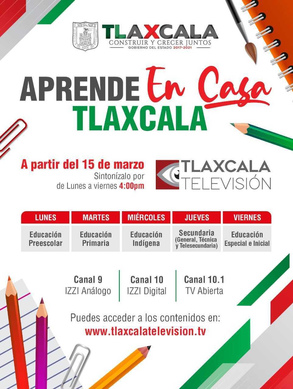 Aprende En Casa Tlaxcala Inicia el 15 de Marzo
