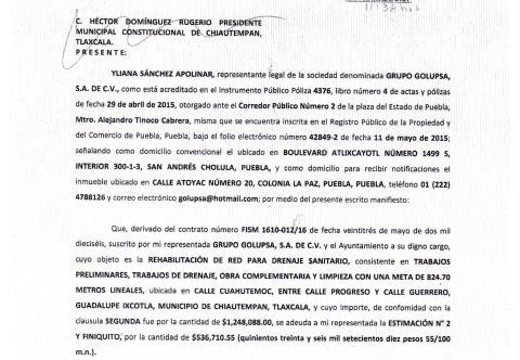 Le cobran a Héctor Domínguez deudas de Antonio Mendoza