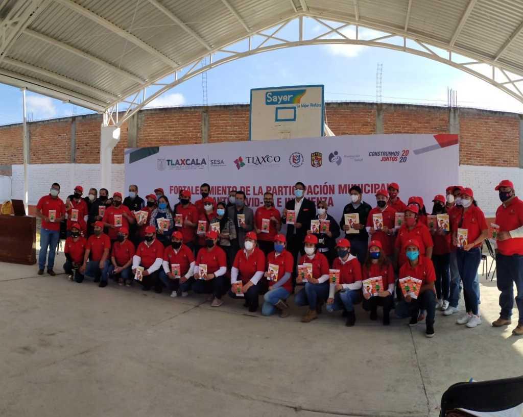 Inician Brigadas Municipales Ante Covid-19 E Influenza acciones preventivas en Tlaxco