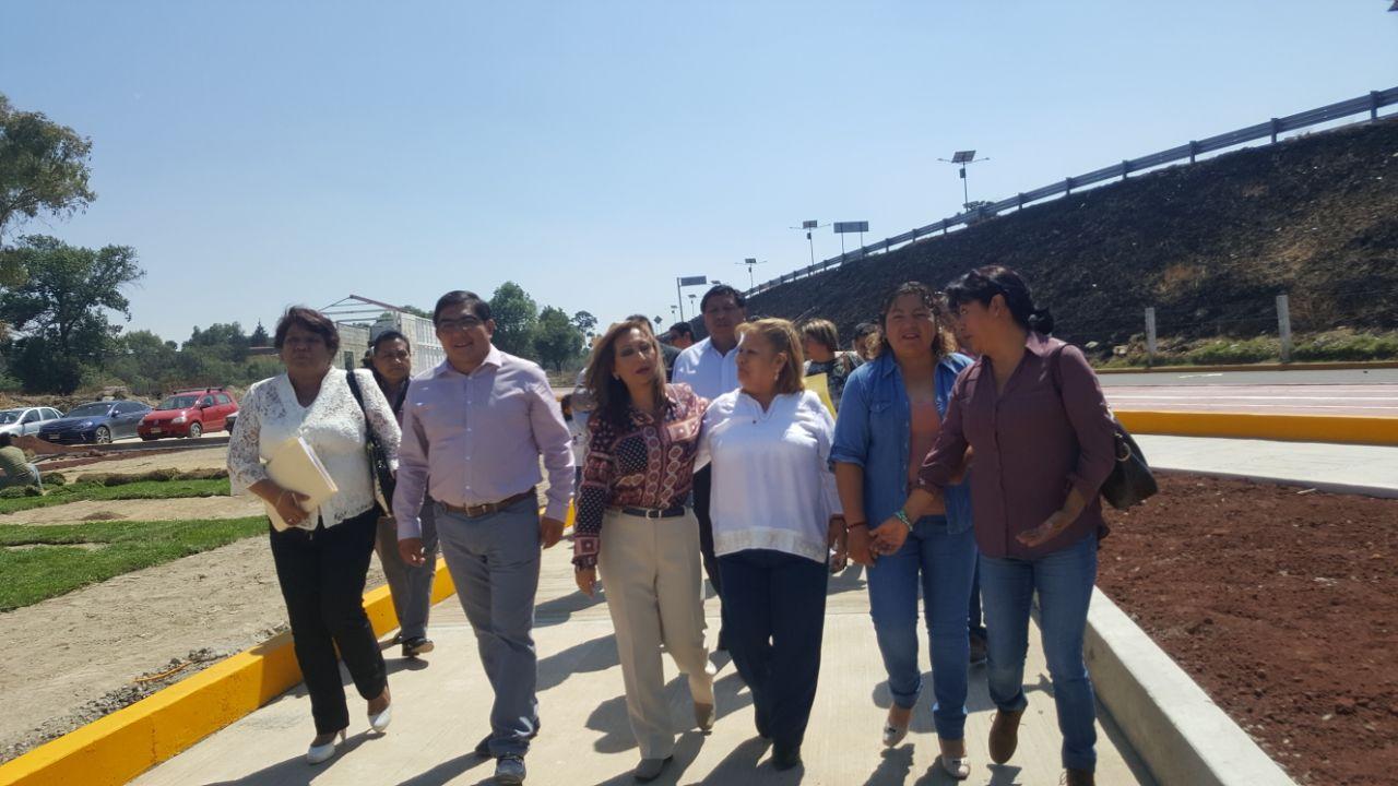 Pobladores de Totolac agradecen a Lorena por obras gestionadas