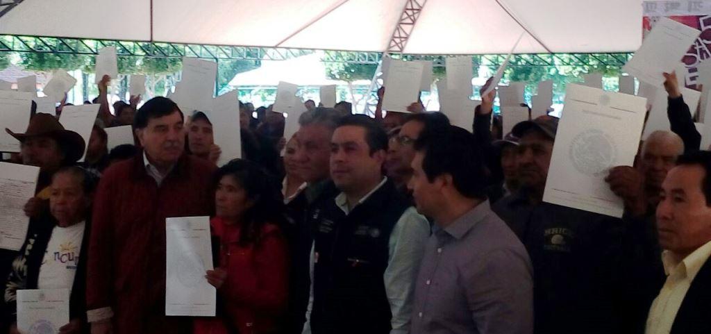 Tras 40 años resuelven conflicto del cerro Otongatepetl en Amaxac