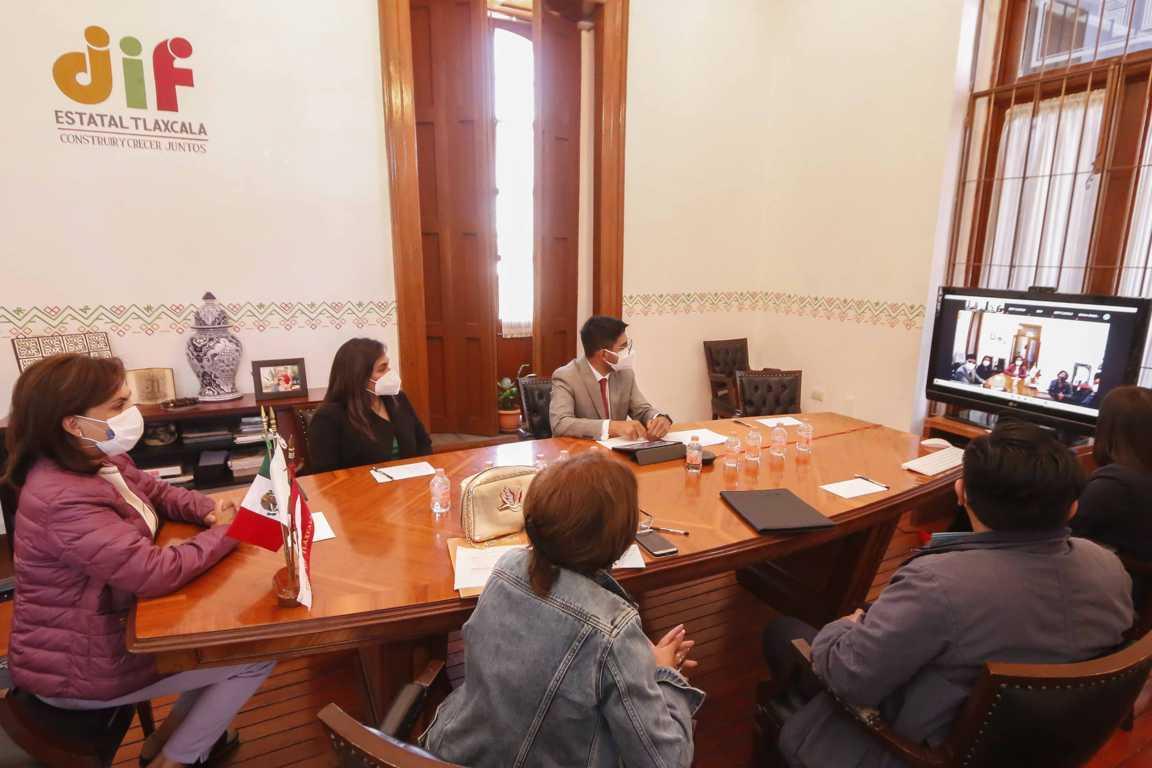 Encabeza Sandra Chávez encuentro virtual con Argentina y la red latinoamericana de acogimiento familiar