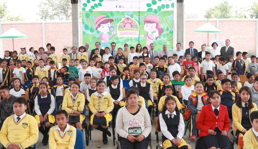 Presenta ITE a niñas y niños cuento sobre democracia