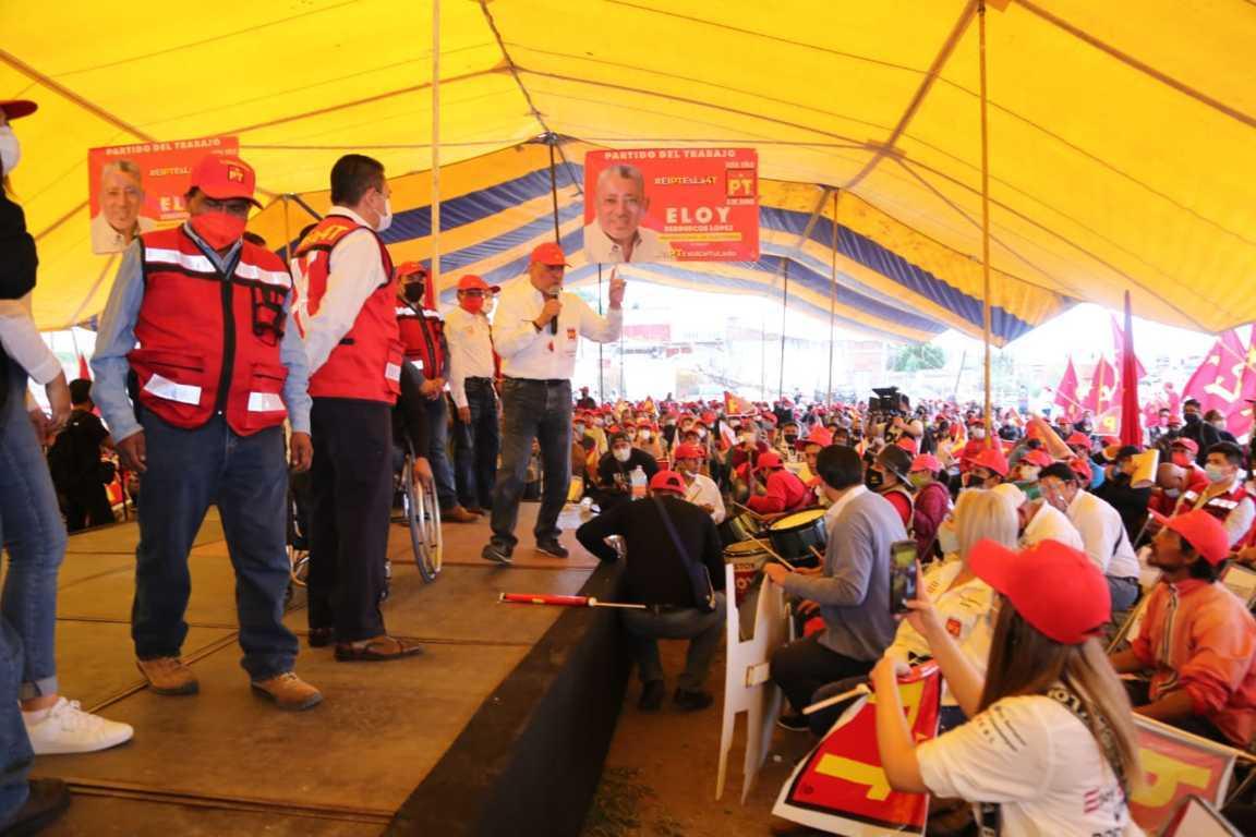 Presume Eloy Berruecos músculo electoral rumbo a elección por Chiautempan