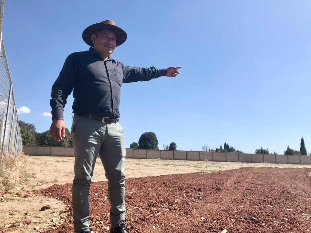 Nuevo panteón para Quilehtla; alcalde asegura que era necesario