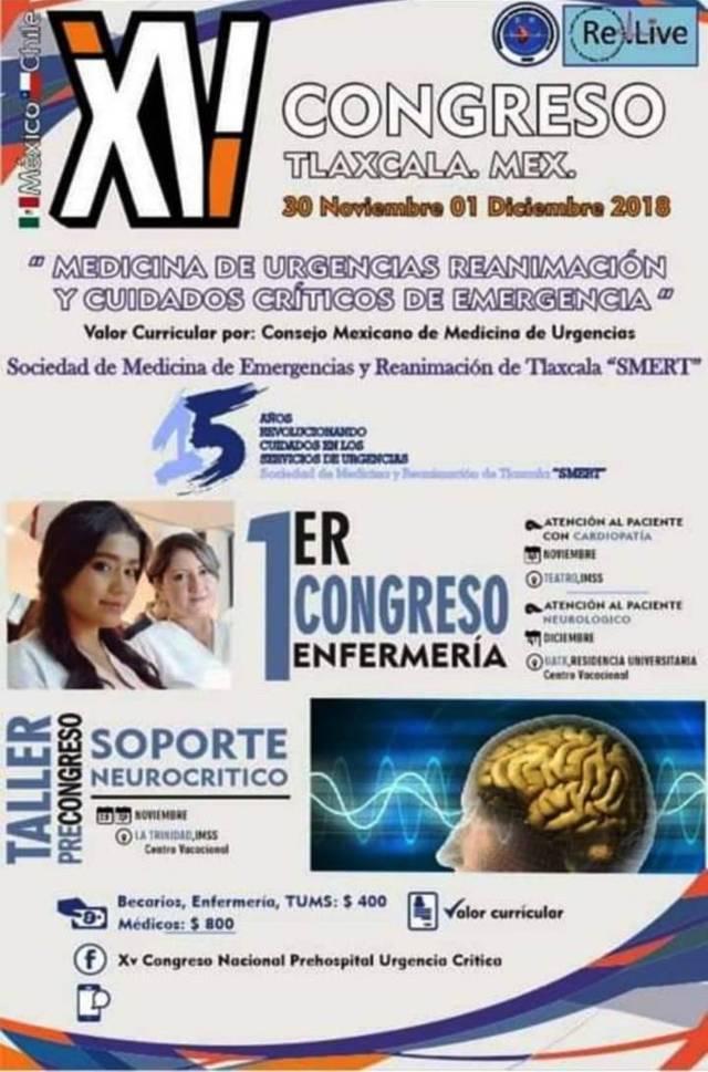Se realizará XV Congreso de urgencias y cuidados críticos de emergencia