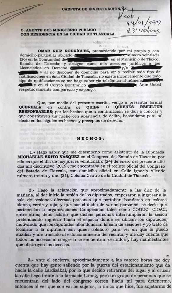 Presentan denuncia contra agresores de asistente de diputada del PT