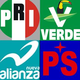 Así quedarían las candidaturas locales del PRI, PVEM, PANAL y PS