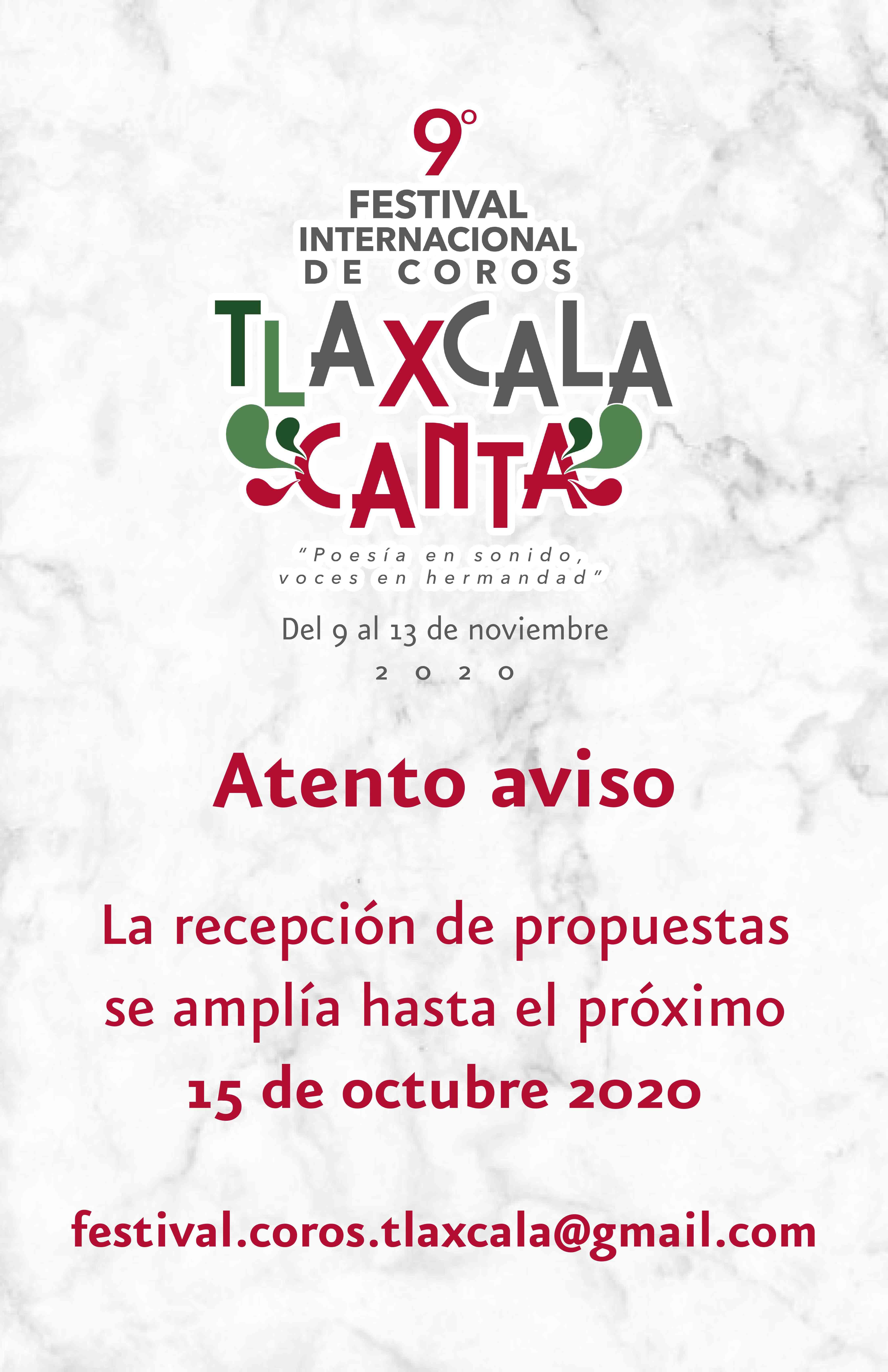 Realizará ITC concurso en el marco del Festival Internacional de Coros Tlaxcala Canta