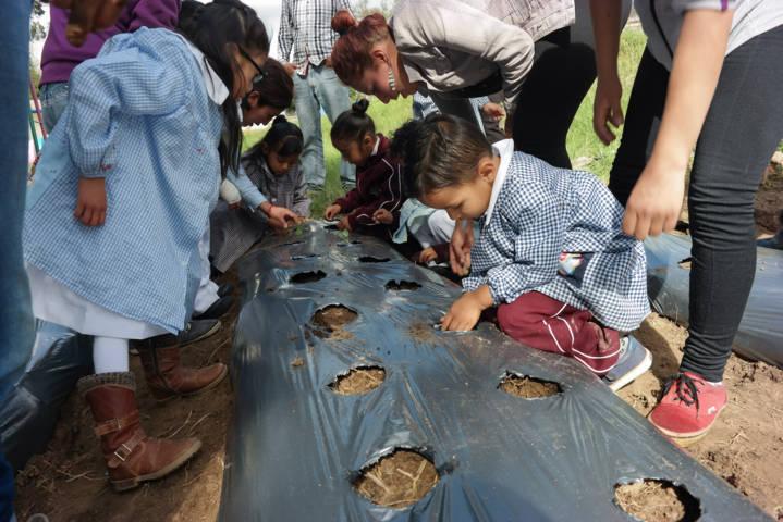 Inauguran 1er Huerto Escolar Ecológico en Amaxac