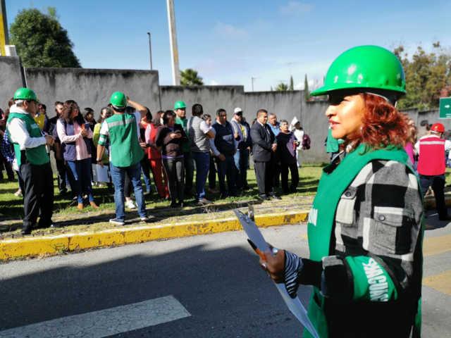 Con simulacro fortalece SEPE cultura de prevención y Protección Civil