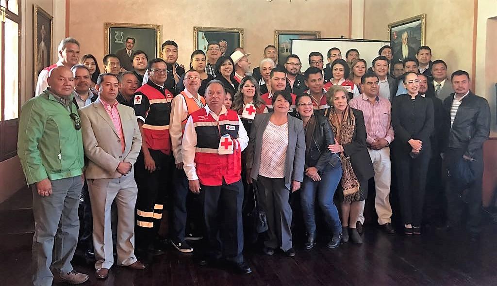 Recibe Cruz Roja donativo del Ayuntamiento de Tlaxcala